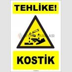 ZY1915 - ISO 7010 Tehlike! Kostik