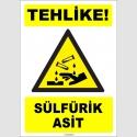 ZY1917 - ISO 7010 Tehlike! Sülfürik Asit