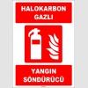 ZY1940 - ISO 7010 Halokarbon Gazlı Yangın Söndürücü