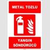 ZY1941 - ISO 7010 Metal Tozlu Yangın Söndürücü