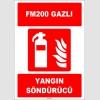 ZY1943 - ISO 7010 FM200 Gazlı Yangın Söndürücü