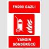 ZY1944 - ISO 7010 Tekerlekli FM200 Gazlı Yangın Söndürücü