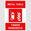 ZY1945 - ISO 7010 Tekerlekli Metal Tozlu Yangın Söndürücü