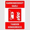 ZY1947 - ISO 7010 Tekerlekli Karbondioksit Gazlı Yangın Söndürücü
