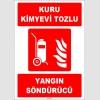 ZY1948 - ISO 7010 Tekerlekli Kuru Kimyevi Tozlu Yangın Söndürücü