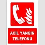 ZY1961 - ISO 7010 Acil Yangın Telefonu