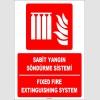 ZY1964 - ISO 7010 Türkçe İngilizce Sabit Yangın Söndürme Sistemi, Fixed Fire Extinguishing System