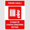 ZY1968 - ISO 7010 FM200 Gazlı Otomatik Yangın Söndürme Sistemi