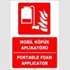 ZY1966 - ISO 7010 Türkçe İngilizce Mobil Köpük Aplikatör, Portable Foam Applicator