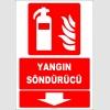 ZY1980 - ISO 7010 Yangın Söndürücü, aşağı tarafta
