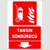 ZY1981 - ISO 7010 Tekerlekli Yangın Söndürücü, aşağı tarafta