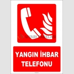 ZY1982 - ISO 7010 Yangın İhbar Telefonu