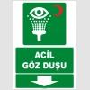 ZY2031 - ISO 7010 Acil Göz Duşu, Aşağıda