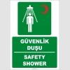 ZY2040 - ISO 7010 Türkçe İngilizce Güvenlik Duşu, Safety Shower