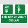 ZY2043 - ISO 7010 Acil Göz ve Vücut Duşları