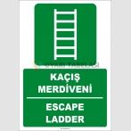 ZY2087 - ISO 7010 Kaçış Merdiveni, Escape Ladder