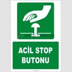 ZY2056 - ISO 7010 Acil Stop Butonu
