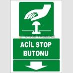 ZY2079 - ISO 7010 Acil Stop Butonu, Aşağıda