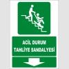 ZY2078 - ISO 7010 Acil Durum Tahliye Sandalyesi, Aşağıda