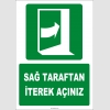 ZY2051 - ISO 7010 Sağ Taraftan İterek Açınız