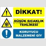 ZY2022 - Dikkat, Düşük Sıcaklık Tehlikesi, Koruyucu Malzemeni Giy