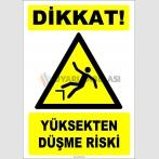 ZY2099 - ISO 7010 Dikkat! Yüksekten Düşme Riski