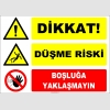 ZY2127 - ISO 7010 Dikkat! Düşme Riski, Boşluğa Yaklaşmayın