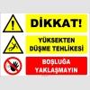 ZY2129 - Dikkat! Yüksekten Düşme Tehlikesi, Boşluğa Yaklaşmayın