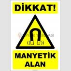 ZY2107 - ISO 7010 Dikkat! Manyetik Alan