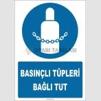 ZY2147 - ISO 7010 Basınçlı Tüpleri Bağlı Tut