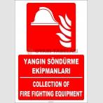 ZY2156 - ISO 7010 Türkçe İngilizce Yangın Söndürme Ekipmanları, Collection of Fire Fighting Equipment