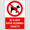 ZY2166 - ISO 7010 Bu Alanda Köpek Gezdirmek Yasaktır