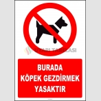 ZY2167 - ISO 7010 Burada Köpek Gezdirmek Yasaktır