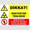 ZY2171 - ISO 7010 Dikkat Radyasyon Tehlikesi, Hamileler ve Hamilelik Şüphesi Olanlar Giremez