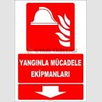 ZY2179 - ISO 7010 Yangınla Mücadele Ekipmanları, Aşağıda