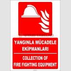 ZY2180 - ISO 7010 Türkçe İngilizce Yangınla Mücadele Ekipmanları, Collection of Fire Fighting Equipment