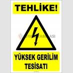 ZY2194 - ISO 7010 Tehlike! Yüksek Gerilim Tesisatı