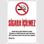 ZY2233 - Sigara İçilmez, 4207 Sayılı Kanun Gereği Asılması Zorunlu Yasal Uyarı Levhası