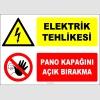 ZY2239 - Elektrik Tehlikesi, Pano Kapağını Açık Bırakma