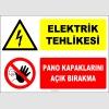 ZY2238 - Elektrik Tehlikesi, Pano Kapaklarını Açık Bırakma