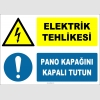 ZY2240 - ISO 7010 Elektrik Tehlikesi, Pano Kapağını Kapalı Tutun