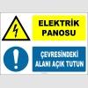 ZY2225 - ISO 7010 Elektrik Panosu, Çevresindeki Alanı Açık Tutun