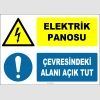 ZY2237 - ISO 7010 Elektrik Panosu, Çevresindeki Alanı Açık Tut