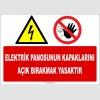ZY2249 - Elektrik Panosunun Kapaklarını Açık Bırakmak Yasaktır
