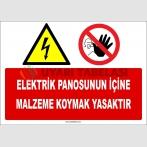 ZY2250 - Elektrik Panosunun İçine Malzeme Koymak Yasaktır