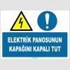 ZY2254 - ISO 7010 Elektrik Panosunun Kapağını Kapalı Tut