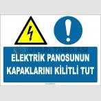 ZY2255 - ISO 7010 Elektrik Panosunun Kapaklarını Kilitli Tut