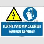 ZY2260 - ISO 7010 Elektrik Panosunda Çalışırken Koruyucu Eldiven Giy