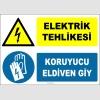 ZY2269 - Elektrik Tehlikesi, Koruyucu Eldiven Giy