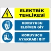 ZY2270 - Elektrik Tehlikesi, Koruyucu Eldiven Giy, Koruyucu Ayakkabı Giy